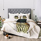 Deny Designs Coco De Paris Steampunk Owl Smoking Comforter Set, King