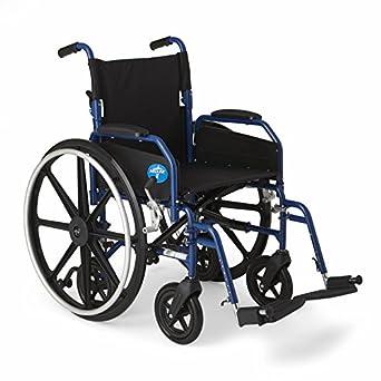 Medline híbrida silla de ruedas + silla de ruedas con Extraíble desk-length armas y