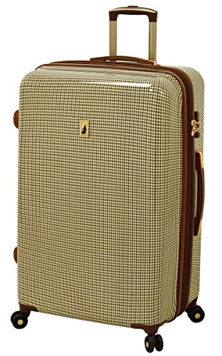 London Fog Cambridge 29'' Expandable Hardside Spinner, Olive Plaid by London Fog