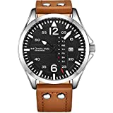 Stuhrling Original Mens Leather Watch -Aviation...