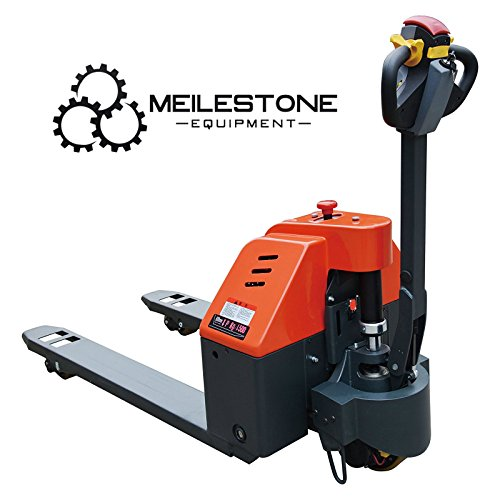 (Meilestone Heavy Duty Electric Pallet Truck, Electric Pallet Jack 3300lb Capacity 2 Year US Warranty & Service)