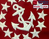 "12x18"" US Power Squadron Small craft Flag - Nautical Marine Grade Fully Stitched & Embroidered, Durable All-Weather Nylon with grommets for Outdoors, Made in USA"
