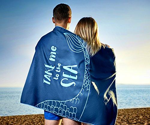 Beach Towel - Oversized Beach Towel - Microfiber Beach Towel - Large Beach Towel - Mermaid Beach Towel - XL Beach Towel - Beach Towels Adults - Beach Towels Kids - Portable Beach Towel by Lahtak (Image #3)