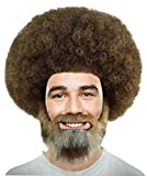 #7: Wig for Cosplay Bob Ross Afro Wig with Full Beard and Moustache Set HM-898