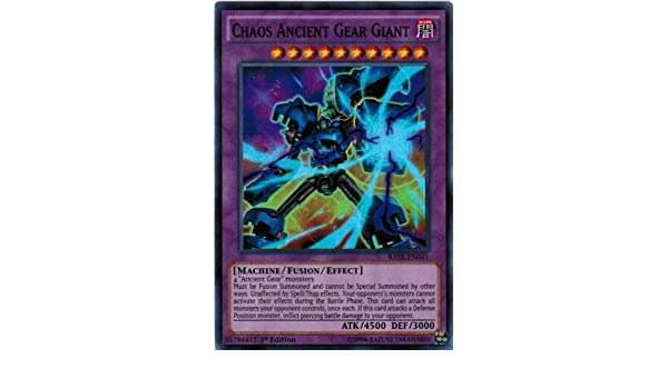 RATE-EN041 Chaos Ancient Gear Giant NM Yugioh Super Rare 1st Edition