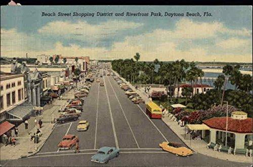 Beach Street Shopping District and Riverfront Park Daytona Beach, Florida Original Vintage - Shopping Florida Daytona Beach