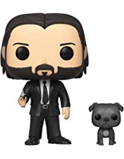 Funko 47238 POP Movies Wick-John in Black Suit w/Dog Collectible Toy, Multicolour