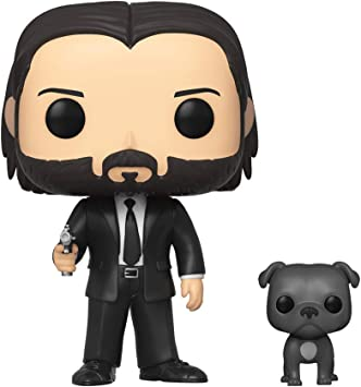 Funko 47238 Pop Movies Wick John In Black Suit W Dog Collectible Toy Multicolour Amazon Co Uk Toys Games
