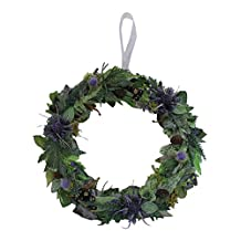 Handcrafted Everlasting Artificial Scottish Thistle Wreath Garland Hanging - The Highland Gathering Round