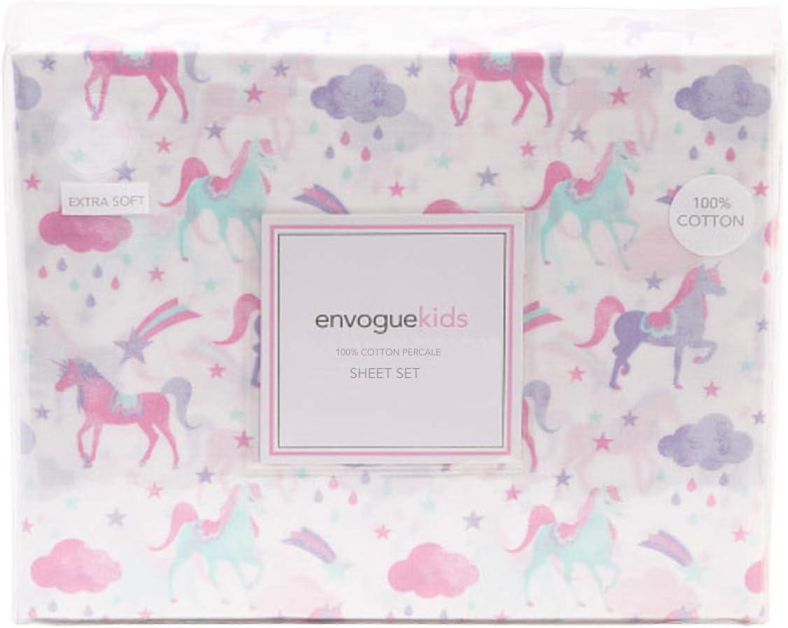 Kids Rule 3pc Unicorn Sheet Set Purple Pink Twin Size