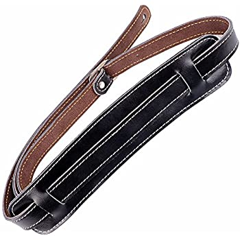 mugig leather guitar strap guitar accessory adjustable from 127 cm to 145 cm in. Black Bedroom Furniture Sets. Home Design Ideas