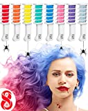 hair color brush comb - New Hair Chalk Comb Temporary Hair Dye Hair Color Brush Glitter Paint for Adults Kids & Children - Boys & Girls Perfect Gift Idea Set of 8 pcs
