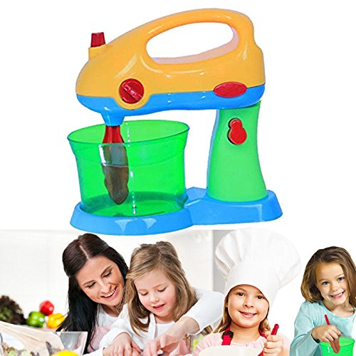 Electric Mighty Mixer Kitchen Toy - Kids Pretend Hand or Stand Beater with Bowl - Makes Mixing Sounds, Detachable Whisks - By Dazzling Toys by Dazzling Toys