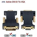 dvi d vga adapter - CableDeconn DVI VGA Adapter, Active DVI-D 24+1 to VGA Link Video Adapter Cable Converter for PC DVD Monitor HDTV (E0401)