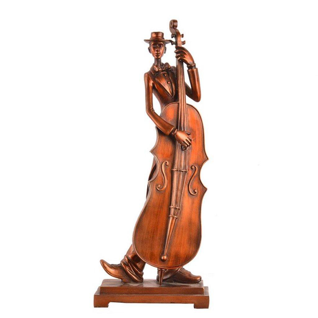クリエイティブクラシック楽器バンドの文字彫刻の手工芸品装飾品レトロ居間事務所抽象装飾品 ( サイズ さいず : 18.5*10*46cm ) B07BDCDCHP  18.5*10*46cm