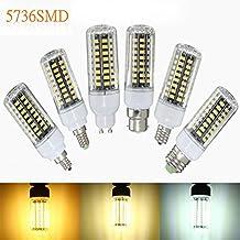 E27 E17 E14 E12 B22 9W 100 SMD 5736 LED Pure White Warm White Natural White Corn Bulb AC85-265V (Random: Base Color)