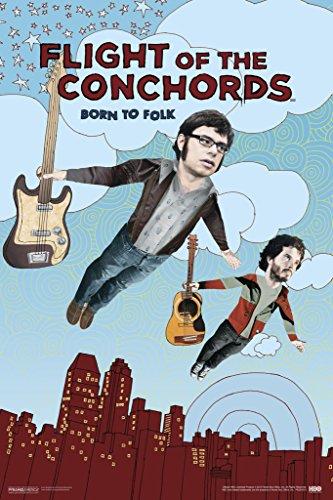 Pyramid America Flight of The Conchords Born to Folk Cool Wall Decor Art Print Poster 12x18 (Flight Of The Conchords Poster)