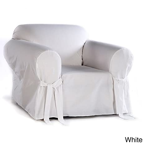 Classic Slipcovers Cotton Duck Chair Slipcover White
