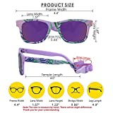COCOSAND Baby Sunglasses with Strap, Purple with