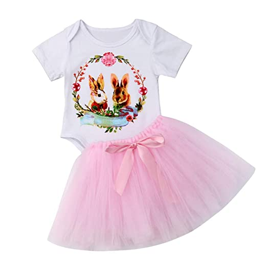 3c0b22199506 Amazon.com  HANANei Easter Baby 2PCS Outfits