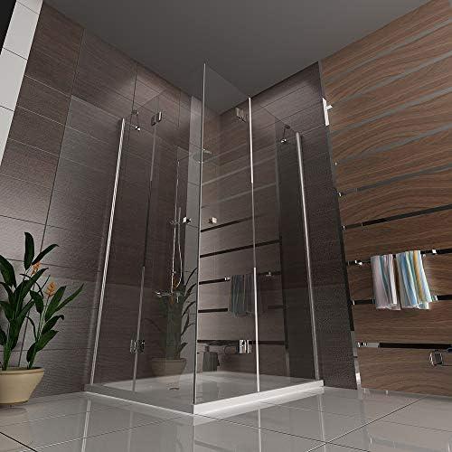 EchtGlas Mampara de ducha, incluye plato de ducha, 120 x 100 x 195 ...