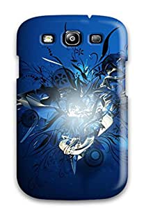 Galaxy S3 Case Cover Skin : Premium High Quality Blue Abstract Vector Case