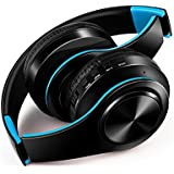 FARVOICE Bluetooth Headphones Over Ear Noise Cancelling Stereo Wireless Headset Wireless Headphone Headset with Microphone for PC/Cell Phones/TV (Blue)