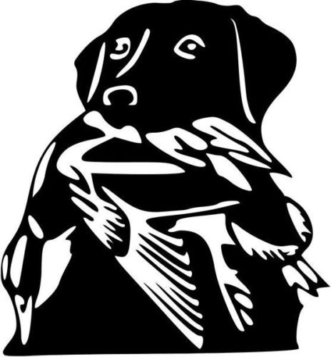 Labrador Dog Duck Hunting Sportsman Graphic Car Truck Window Decor Decal Sticker - Die cut vinyl decal for windows, cars, trucks, tool boxes, laptops, MacBook - virtually any hard, smooth surface