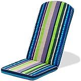Gardenista® Gold Collection Skiing Stripe Piped Edge Garden Adirondack Chair Cushion Outdoor