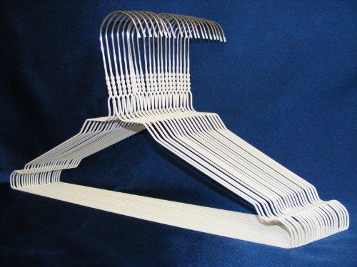 100 Drahtbügel in WEISS von KleinesKaufhaus24 - Top Qualität aus hochwertiger Zink- und farbiger Pulverbeschichtung - Hochwertige Drahtkleiderbügel für Sie und Ihn
