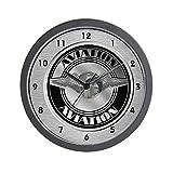 Cheap CafePress – Retro Aviation Badge Wall Clock – Unique Decorative 10″ Wall Clock