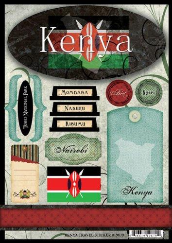 Amazon Kenya Travel Cardstock Scrapbook Stickers 19879