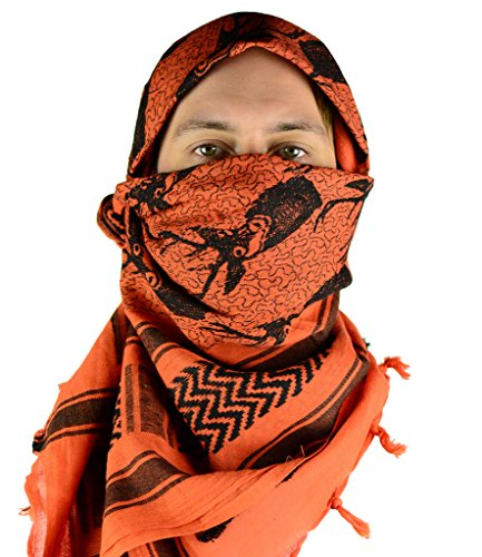 Mato & Hash Military Shemagh Tactical 100% Cotton Scarf Head Wrap - Deer Hunter CA2100-2