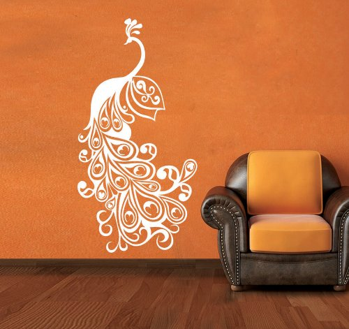 buy creative width peacock wall sticker decal online at low prices