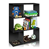 45'' Home Office 6-Open Accent Shelves Bookcase in Black