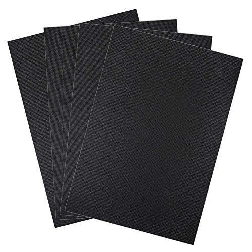 4 Pieces Aida Cloth 11 Count Classic Reserve Black Cross Stitch Cloth Fabric for Needle Work DIY Supplies, 30 cm ×45 cm ()
