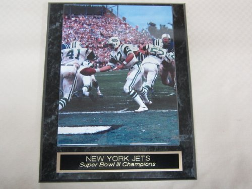 - New York Jets Super Bowl III Champions Engraved Collector Plaque #3 w/8x10 Photo