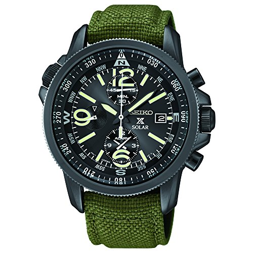 Seiko Men's SSC295 Analog Display Analog Quartz Green Watch by Seiko