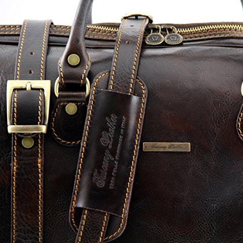 8101754 - TUSCANY LEATHER: Reiseset Berlin - Reisetaschen / Taschen aus Leder - gross und klein, dunkelbraun