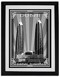 Photo of Damac Tower-Black And White With Silver Border F06-M (A4)