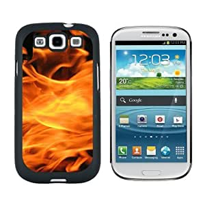 Burning Up - Flames Fire - Snap On Hard Protective Case for Samsung Galaxy S3 - Black