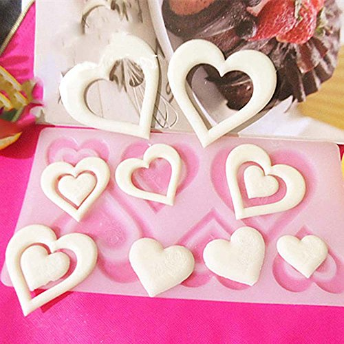 Magnum Cabinet (JD Million shop Non-stick 3D DIY Heart Shape Silicone Mold Cake Decorating Tools Cupcake Silicone Mold Chocolate Mould Decor free shipping)