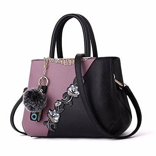 púrpura Vintage Bag Bandolera Negro Bandolera Bolso CCZUIML Crossbody 4ZBF1R0q