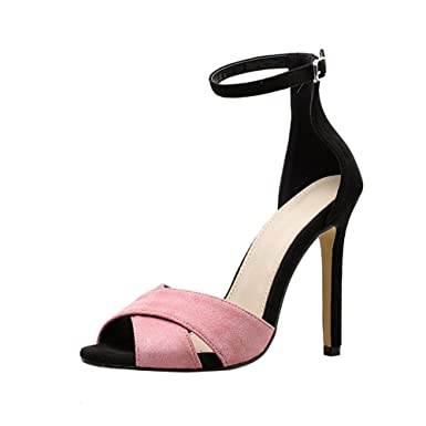 242945fd088 Amazon.com: Womens Dress Sandals,Sexy High Heel Ankle Strap Wedge ...