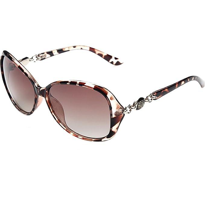Gafas de sol polarizadas con protección UV de Lerben®, para mujer leopardo Taille unique: Amazon.es: Ropa y accesorios