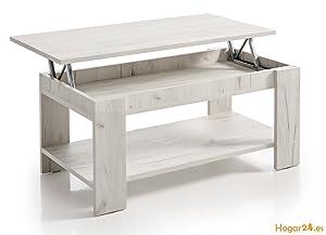 HOGAR24.es Mesa de Centro elevable Modelo Roma Color Blanco Vintage