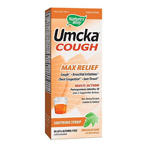 Nature's Way Umcka Cough Max Relief Syrup, 4 Ounce (Umcka Syrup)