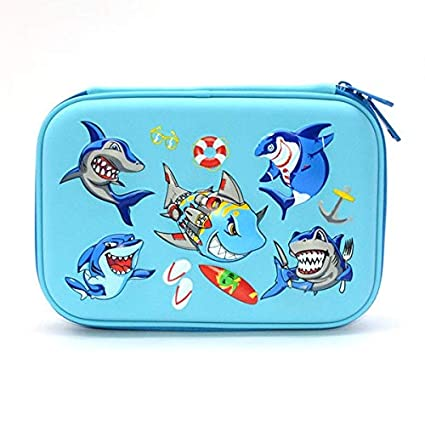 Amazon.com : | Pencil Cases | Shark Pencil case EVA estuche escolar ...