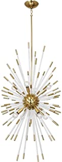 product image for Robert Abbey 1206 Andromeda - Eight Light Chandelier, Modern Brass/Lucite Finish