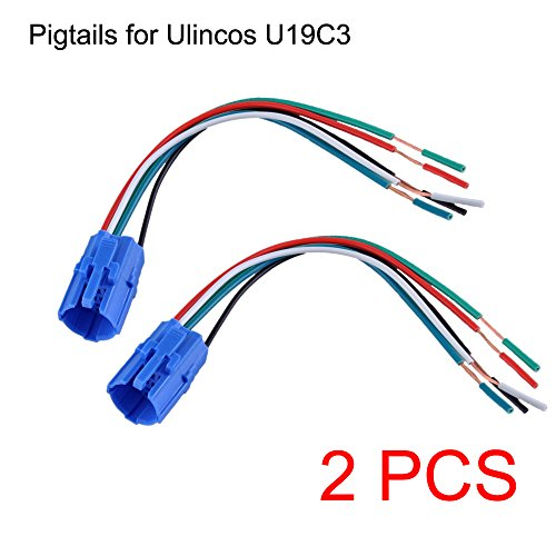 NOT FIT U19D1, 19mm Pigtail, Wire Connector, Socket Plug for U19C3 Push Button Switch (Pack of 2)